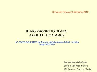 Convegno Pescara 13 dicembre 2012