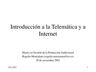 Introducción a la Telemática y a Internet