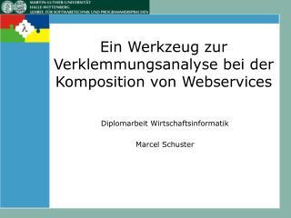 Ein Werkzeug zur Verklemmungsanalyse bei der Komposition von Webservices