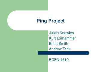 Ping Project