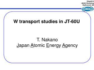 T. Nakano  J apan  A tomic  E nergy  A gency
