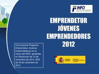 EMPRENDETUR JÓVENES EMPRENDEDORES 2012