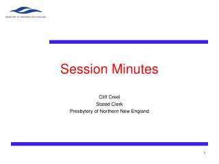 Session Minutes