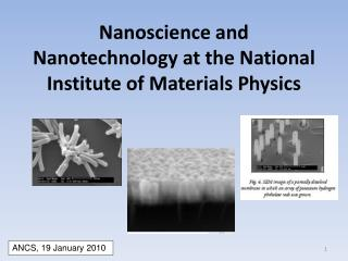 Nanoscience  and Nanotechnology at the National Institute of Materials Physics