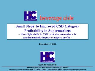 Small Steps To Improved CSD Category Profitability in Supermarkets   How slight shifts in CSD pack size promotion mix  c