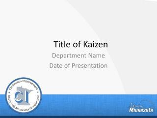 Title of Kaizen