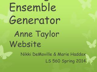 Clothing Ensemble Generator Anne Taylor Website