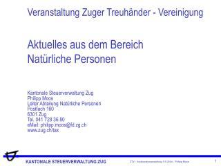 Veranstaltung Zuger Treuh nder - Vereinigung