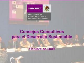 Consejos Consultivos para el Desarrollo Sustentable Octubre de 2009