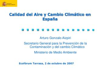 Calidad del Aire y Cambio Climático en España