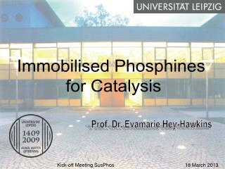Immobilised Phosphines  for Catalysis