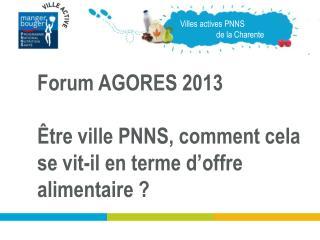 Villes actives PNNS                    de la Charente