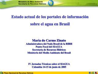 Estado actual de los portales de información  sobre el agua en Brasil