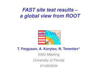 FAST site test results –   a global view from ROOT