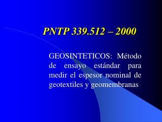 PNTP 339.512 – 2000