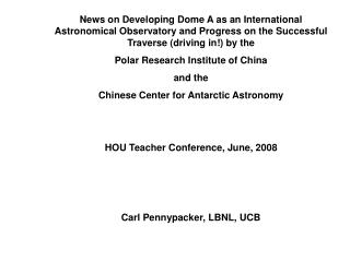 Lifan Wang Texas A and M, USA/ Chinese Center for Antarctic Astronomy, (Director), Nanjing, China