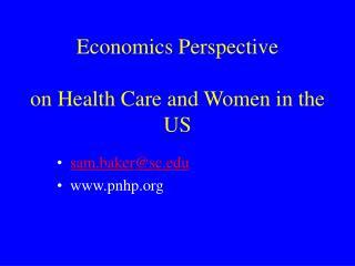 Economics Perspective