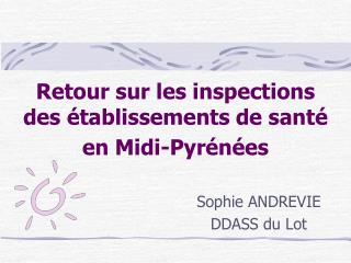 Sophie ANDREVIE DDASS du Lot
