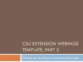 CSU Extension Webpage Template, part 2