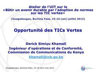 Opportunité des TICs Vertes