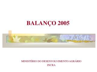 BALANÇO 2005
