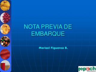 NOTA PREVIA DE EMBARQUE