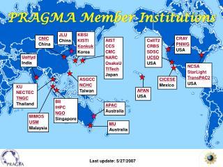 PRAGMA Member Institutions