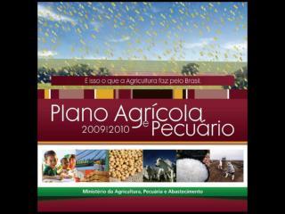 PAUTA  Plano safra 2009/2010  Linhas de crédito  Proger e Pronaf (mudanças)