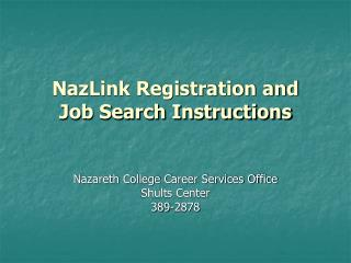 NazLink Registration and Job Search Instructions