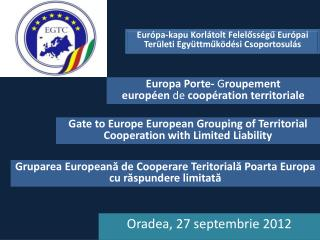Oradea, 27  septembrie  2012