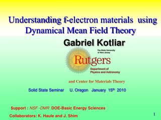 Understanding f-electron materials  using Dynamical Mean Field Theory