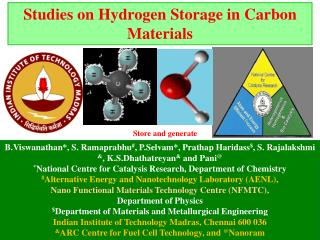 Studies on Hydrogen Storage in Carbon Materials