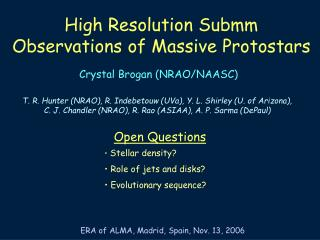 High Resolution Submm Observations of Massive Protostars