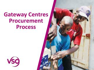 Gateway Centres Procurement Process