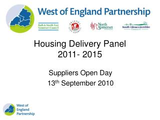 Housing Delivery Panel 2011- 2015