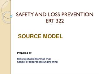 SAFETY AND LOSS PREVENTION ERT 322