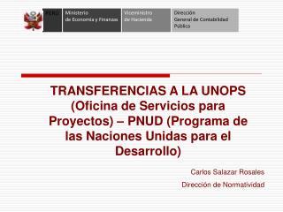 Carlos Salazar Rosales Dirección de Normatividad