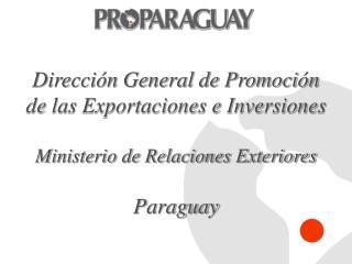 Dirección General de Promoción de las Exportaciones e Inversiones