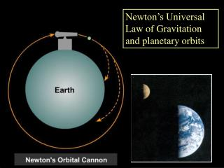 Newton's Universal Law of Gravitation and planetary orbits