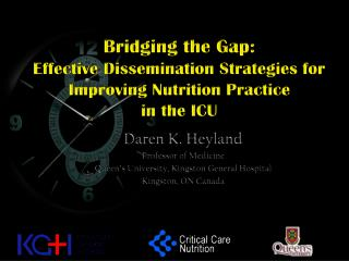 Bridging the Gap:  Effective Dissemination Strategies for Improving Nutrition Practice  in the ICU