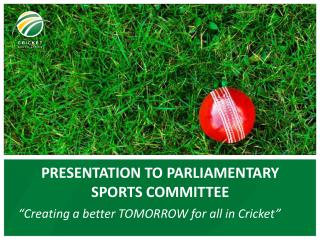 PRESENTATION TO PARLIAMENTARY SPORTS COMMITTEE