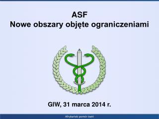 ASF Nowe obszary objęte ograniczeniami