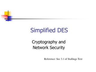 Simplified DES
