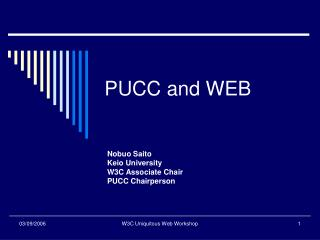 PUCC and WEB