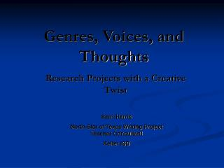 Genres, Voices, and Thoughts