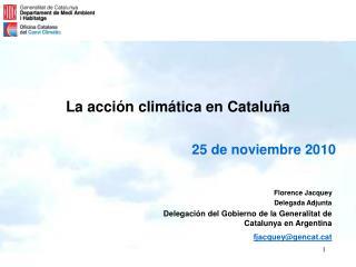 La acción climática en Cataluña