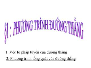 1. V�c t? ph�p tuy?n c?a ???ng th?ng