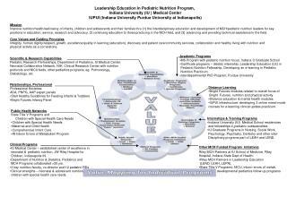 Academic Programs MS Program with pediatric nutrition focus, Indiana U Graduate School