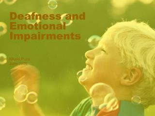 Deafness and Emotional Impairments