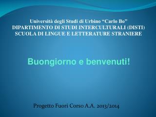 Progetto Fuori Corso A.A. 2013/2014